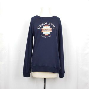 Pendleton Navy Blue Logo Long Sleeve Sweatshirt